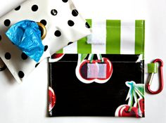 These oilcloth dog bag dispensers make an unpleasant job easier, ensure you never forget your bags (how embarrassing!) and look a lot better than a blue plastic bone. No dog? These bags make great diaper bag dispensers too. Each bag is constructed with a double layer of oilcloth making them super strong, and just as importantly super cute. You choose your favorite combination of patterns/colors for a custom look thats just your style or save yourself a couple dollars and let me choose f...