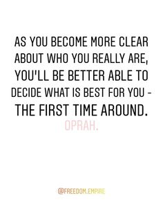 As you become more clear about who you really are you'll be better able to decide what is best for you - the first time around. Oprah Winfrey. . Come join us in the Freedom Queens Collective private Facebook group. A group for Freeqs (ladies only) to connect with each other and to provide a place to share your feelings concerns questions seek and provide support advice tips and tricks. A place to learn grow together and empower one another - our very own personal cheer squad! - on our…
