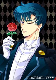 Tuxedo Mask ~ Honami_vvvv ♥ Sailor Moon Manga, Sailor Moon Art, Sailor Moon Crystal, Tuxedo Mask, Darien Sailor Moon, Sailor Moon Crafts, Sailer Moon, Moon Drawing, Sailor Princess