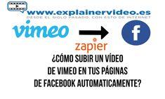 ¿ Cómo postear un vídeo de Vimeo en tus páginas de Facebook automaticamente? Videos, Board