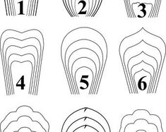ALL(18)PDF Templates .Giant Paper Flower Template. Flower Wall.Printable Flower Template.Paper Flower Template