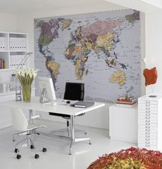 Wallpaper for the home office / © PHOTO: Fantasi Interiør