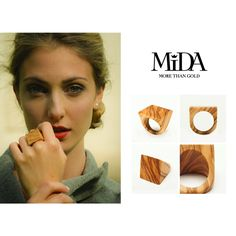Romantic Colection MIDA morethanGold! Carré, Ulivo Italiano! #greensoul #naturallychic #wearringnature #woodrings #midadesign