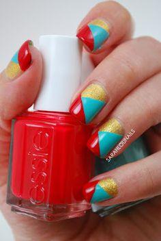 Sarah Lou Nails: Tri Colored Tape  #nail #nails #nailart