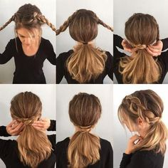 Braided Ponytail Tutorial – Help Yourself # double Braids pony tails # double Braids pony tails Ponytail Hairstyles Tutorial, Ponytail Tutorial, Braided Ponytail Hairstyles, Long Face Hairstyles, Braided Hairstyles, School Hairstyles, Updo Hairstyle, Everyday Hairstyles, Wedding Hairstyles