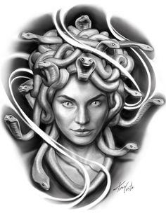 Medusa Tattoo, Snake Tattoo, Big Tattoo, Medusa Kunst, Medusa Gorgon, Tattoo Images, Tattoo Photos, Female Reference, Beautiful Goddess