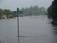 Duluth, MN Flooding. I work on this road. Needless to say i didn't go to work today.