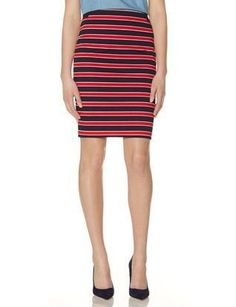 Blue and red striped pencil skirt...just got it
