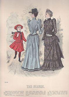 December 1890 Fashion Plate