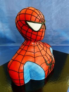 Spider man 3D sculpted cake   by HAVE SOME SUGAR