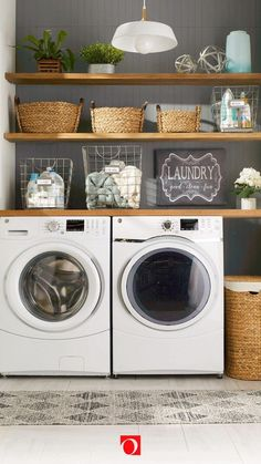 """43 Small Farmhouse Laundry Room Ideas Look Bigger - Exceptional """"laundry room storage diy shelves"""" information is available on our site. Laundry Room Countertop, Laundry Room Organization, Laundry Room Design, Organization Ideas, Countertop Decor, Closet Storage, Diy Storage, Storage Ideas, Storage Shelves"""