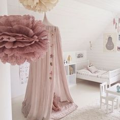 A little dreamy room love for a Fri-yay!! You can find the Fine Little Day Pirum Parum Pear print and Numerò 74 canopy online at ••www.growingfootprints.com.au•• Image via @shin798394 #friyay #numero74 #finelittleday #girlsroom #roominspo #pompoms #growingfootprints