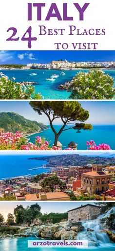 Find out which 24 places should be on your Italy itinerary I Italy´s most beautiful places I Where to go in Italy I Italy most beautiful cities I What to see in Italy I Best places to visit in #Italy #Europe