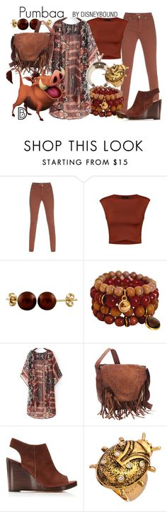 """""""Pumbaa"""" by leslieakay ❤ liked on Polyvore featuring Paul Smith, Ally Fashion, Splendid Pearls, Ruby Kats, disney and disneybound"""