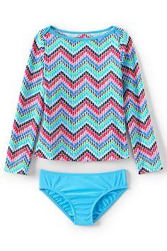 Girls Rashguard Swimsuit Set