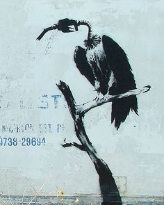 I chose this piece because this artist, Banksy is my favorite. He is an England-based graffiti artist, political activist, film director, . Banksy Graffiti, Arte Banksy, Street Art Banksy, Bansky, Graffiti Lettering, Pop Art, Political Art, Stencil Art, Outdoor Art
