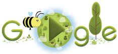 The company showed the relevance of this small animal to habitats around the world through a simple video game. Google Doodles, Google Doodle Games, Google Doodle Today, Earth Day Quiz, Earth Day Song, Aides Sociales, Doodles Games, Honey Bee Hives, Headlines Today