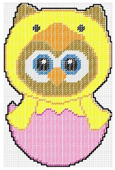 Owl in chick costume