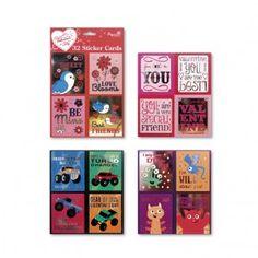 School valentine sticker cards from Paper Craft