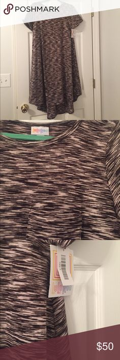 Space Dye Carly Brand New! Dark brown and white space dye Carly dress in perfect condition. Super comfy and perfect for warm weather! LuLaRoe Dresses