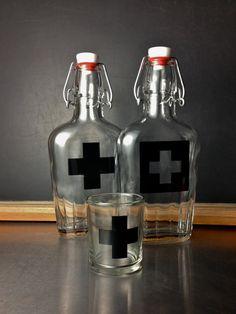 1st Aid Medicine Flask by BROOKLYNrehab on Etsy, $25.00