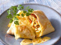 Découvrez la recette Crêpes au poulet au curry sur cuisineactuelle.fr.