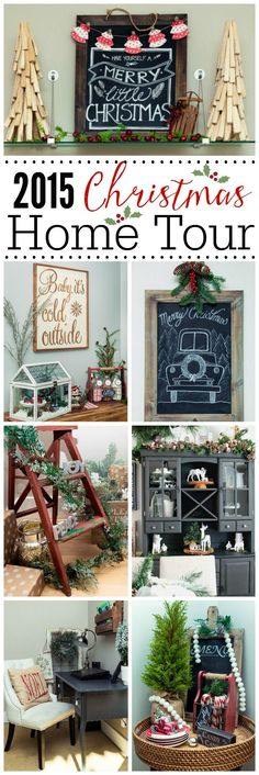 Beautiful Christmas home tour! with lots of simple Christmas decorating ideas.