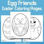 Egg Friends Easter Coloring Pages – Easy Peasy and Fun Membership Easter Coloring Pages, Cool Coloring Pages, Animal Coloring Pages, Coloring For Kids, Bee Crafts, Bunny Crafts, Easter Egg Crafts, Easter Eggs, Bunny Toys