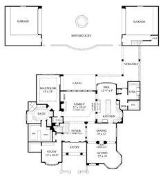 Mediterranean House Plan 61706 Level One