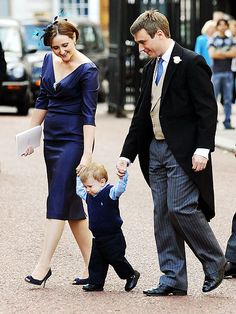 Lesser known members of the royal family.  Earl of Ulster, Alexander Windsor. Eldest son of Queen Elizabeth first cousin, the Duke of Gloucester. Cutely coordinated family. Especially loves his wife Claire dress.