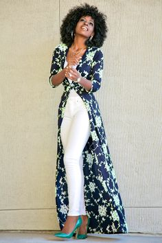 Blue Floral Print Sashes V-neck Fashion Maxi Dress Dress Over Pants, The Dress, African Fashion Dresses, African Dress, Classy Outfits, Stylish Outfits, Cheap Maxi Dresses, Dress Outfits, Fashion Outfits