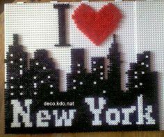 DECO.KDO.NAT: Perles hama: I love New York