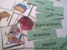 Educación Primaria: Memotest de Blancanieves