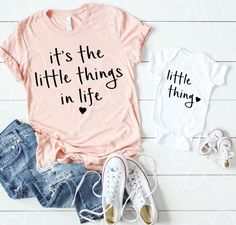 Mom Shirts Discover Mommy and Me Mommy and Me Mommy to Be Mommy and Me SVG Little things in life Svg Files Svg Files for Cricut Mom Gift Baby Mama Baby, Mommy And Me Shirt, Mommy And Me Outfits, Mom And Me, Mommy And Me Clothing, Mommy Baby Matching Outfits, Baby Girl Outfits, Baby Bikini, First Time Moms