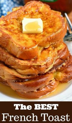 The BEST French Toast. This is the best French Toast recipe that features soft, buttery Brioche bread soaked in sweetened egg mixture. Perfect combination of plush and soft inside and crispy outside texture. recipes breakfast The Best French Toast Awesome French Toast Recipe, Best French Toast, French Toast Bake, French Toast Recipes, Brioche French Toast, Cinnamon French Toast, Homemade French Toast, Bread For French Toast, Overnight French Toast