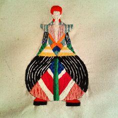 David Bowie bordado. Embroidery.