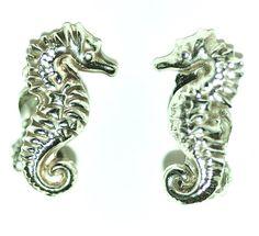 Vintage Seahorse Clip On Earrings (16.00 EUR) by oceanandmorejewels