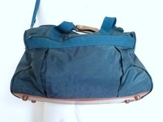 Vintage Bag Canvas / Leather duffel bag by UFOTHRIFT on Etsy