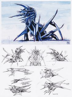 Mother Legion concept art for 'Gamera Advent of Legion' Creature Feature, Creature Design, Godzilla, Legendary Monsters, Latest Technology Gadgets, Art Folder, Fantasy Drawings, Monster Design, Weird Creatures