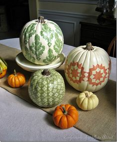 i m sharing one of my favorite fall projects my country living inspired d coupage, crafts, decoupage, seasonal holiday decor, A little nontraditional way to decorate your pumpkins Fall Crafts, Holiday Crafts, Holiday Fun, Holiday Decor, Cozy Christmas, Christmas Pillow, Diy Crafts, Halloween Pumpkins, Halloween Crafts