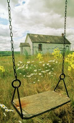 Swing At Old School House, Quappelle Greeting Card Country Life, Country Living, Country Roads, Country Charm, Country School, Vie Simple, Old School House, Meadow Garden, Country Scenes