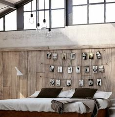 modern bedroom photo wall rustic living style