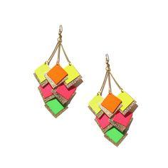 Pantone neon earrings