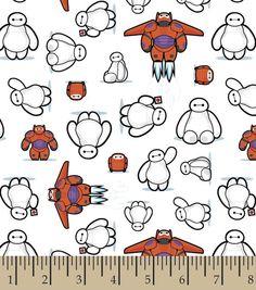 Baymax Kawaii Cotton Fabric