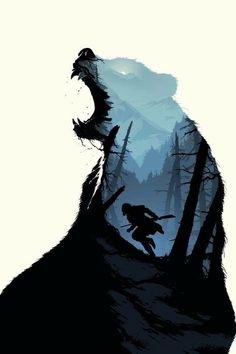 The Revenant (2015) ~ Minimal Movie Poster (artist unknown) #amusementphile