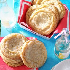 These wonderfully chewy cookies have a light lemon flavor from both the juice and zest. The sanding sugar on top adds sparkle and a bit of crunch. —Michael Vyskocil, Glen Rock, PennsylvaniaGiant …