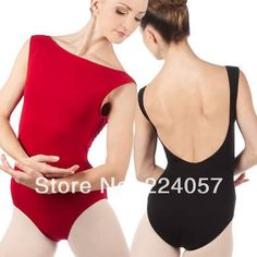 Adult Camisole Leotard with boat neckline and Low Back for women ballet dance leotards - US $40.85