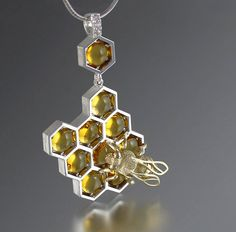 Did you know that bees and honey are symbols of love, family, sweetness, delight, and good luck? Inspired by the small hardworking insects and the rich golden color of honey, WingedLion designs handmade honey-themed pieces of jewelry and sells them on Etsy.