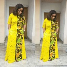 Image may contain: 2 people, people standing African Fashion Ankara, African Print Fashion, Africa Fashion, African Print Dresses, African Dresses For Women, African Attire, Nigerian Dress, Africa Dress, African Traditional Dresses