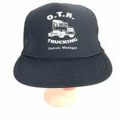 83cbfe8336e O.T.R Trucking Trucker Hat Snap Back Mesh Black Cap  Unbranded  TruckerHat  Black Mesh